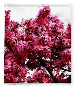 Crabapple Tree Blossoms Fleece Blanket
