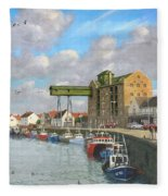Crabbing - Wells-next-the-sea Norfolk Fleece Blanket