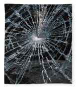 Cracked Glass Of Car Windshield Fleece Blanket