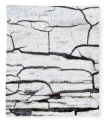 Cracked Wood Pattern Fleece Blanket