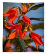 Crackling Fire Begonia Fleece Blanket