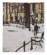 Cracow Park Fleece Blanket
