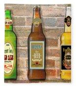 Craft Beer Collection On Brick Fleece Blanket