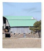 Craggy Old Barn Fleece Blanket