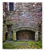 Craigsmillar Castle Kitchen Fireplace Fleece Blanket