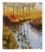 Cranberry Bog Fleece Blanket