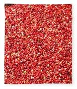 Cranberry Harvest 3 Fleece Blanket
