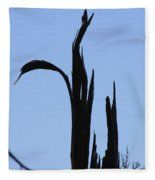 Crane Wood Fleece Blanket