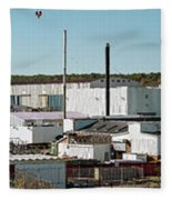 Cranes At Metal Factory, Bath Fleece Blanket