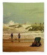 Crash Of The Waves Fleece Blanket