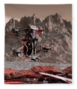 Crash Site Located Fleece Blanket