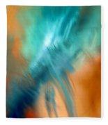 Crashing At Sea Abstract Painting 4 Fleece Blanket