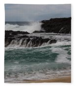 Crashing Surf Fleece Blanket