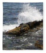 Crashing Waves - Rhode Island Fleece Blanket