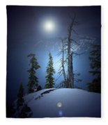Crater Lake Midnight Oregon Fleece Blanket
