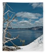 Crater Lake Tree Fleece Blanket