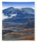 Craters And Cones Fleece Blanket