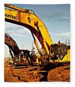 Crawler Excavator - Komatsu - Digger - Machinery Fleece Blanket