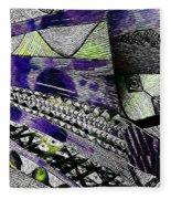Crazy Cones Purple Greenl2 Fleece Blanket