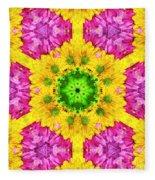 Crazy Daises - Spring Flowers - Bouquet - Gerber Daisy Wanna Be - Kaleidoscope 1 Fleece Blanket