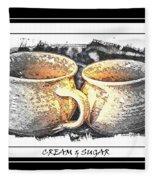 Cream And Sugar - Pottery Fleece Blanket