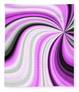 Creamy Pink Graphic Fleece Blanket