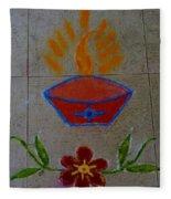 Creative Diya Rangoli Fleece Blanket