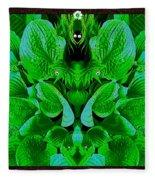 Creatures In The Green Fauna Fleece Blanket
