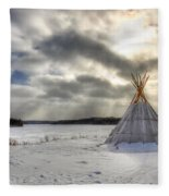 Cree Tepee Fleece Blanket