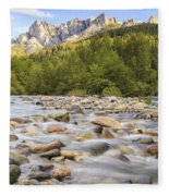Creek And Castle Crags Fleece Blanket