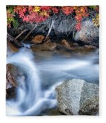 Creek At North Lake Ca_1 Fleece Blanket