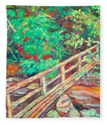 Creek Bridge Fleece Blanket