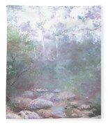 Creek In The Forest Fleece Blanket