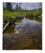 Creek In Vermont Fleece Blanket