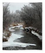 Creek Mood Fleece Blanket
