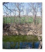 Creek Recovering From Winter Fleece Blanket