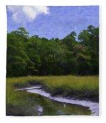 Creekside Fishing Fleece Blanket