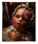 Creepy - Doll - It's Best To Let Them Sleep  Fleece Blanket