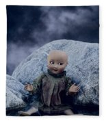 Creepy Doll Fleece Blanket