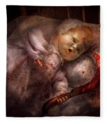 Creepy - Doll - Night Terrors Fleece Blanket