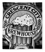 Crescent City Brewhouse - Bw Fleece Blanket