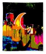 Crescent Moon Fleece Blanket