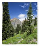 Crested Butte Flowers Fleece Blanket