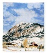 Crested Butte Mountain Fleece Blanket