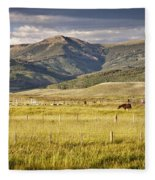 Crested Butte Ranch Fleece Blanket