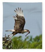 Crested Caracara Fleece Blanket