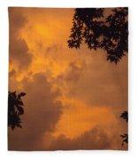 Cresting The Storm Clouds Fleece Blanket