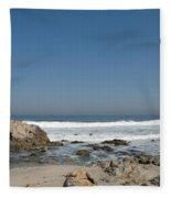Crestwaves On A California Beach Fleece Blanket