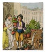 Cries Of London The Garden Pot Seller Fleece Blanket