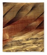 Crimson And Gold Fleece Blanket